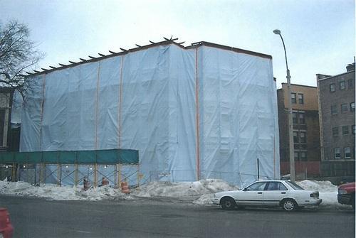 Использование геотекстиля в качестве укрывного материала на фасадах