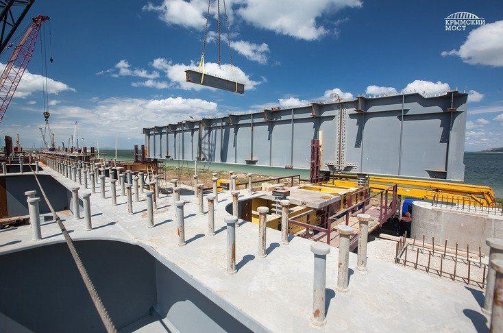 Начался новый этап строительства Керченского моста