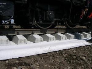 Геотекстиль 600 для железных дорог