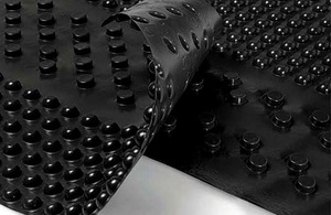 Виды и технические характеристики дренажного полотна Максдрейн