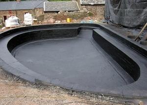 Гидроизоляция бассейна при помощи геомембран