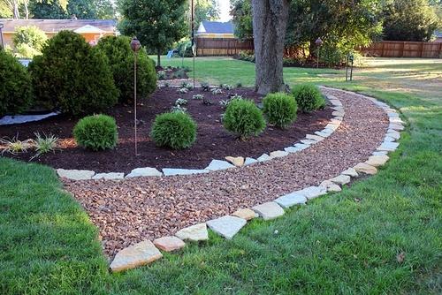 Применение геотекстиля для садовых дорожек