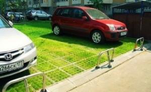 С чем связана популярность газонной решетки