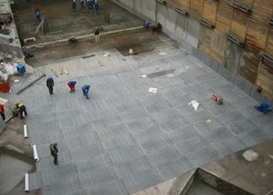 Применение геотекстиля в бетонных работах