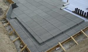 Совместное использование поризованного бетона и геотекстиля