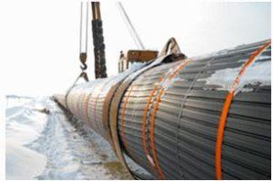 Монтаж материалов для изоляции и защиты магистрального трубопровода