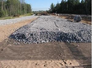 Геосетка Геофлакс для строительства дорог