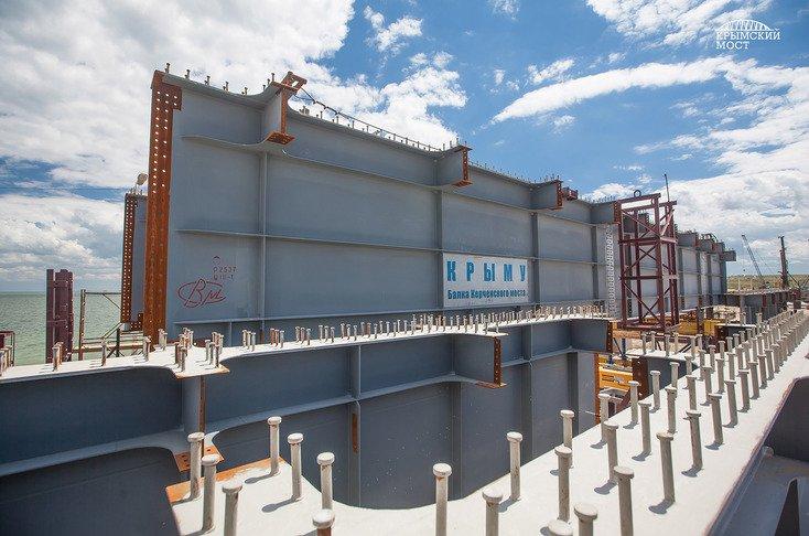 На строительстве Керченского моста забили уникальную 80-метровую сваю