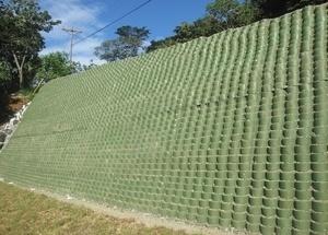 Георешетка для подпорной стены