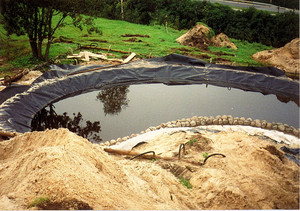 Строительство искусственных водоемов с гидроизоляцией из геомембраны