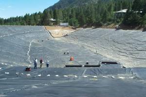 Гидроизоляция для больших прудов