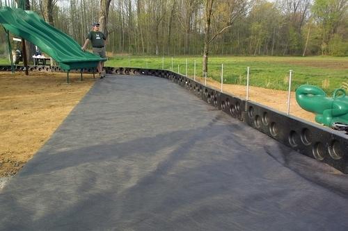 Применение геотекстиля для спортивных площадок