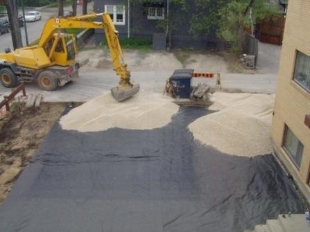 Как используется геотекстиль для земляных работ