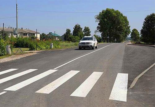 В Калужской области отремонтирован участок дороги Мещовск — Молодежный