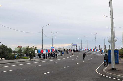В центре Пензы после реконструкции открыли мост