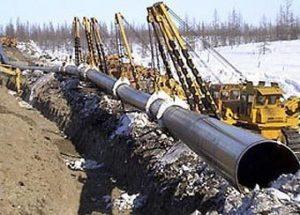 Возведение магистрального газопровода